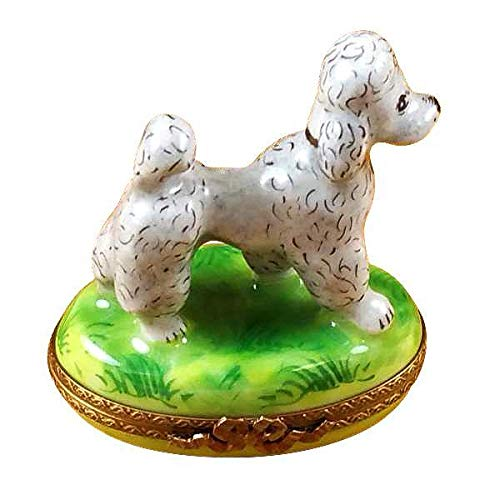 Gray Poodle - French Limoges Boxes - Porcelain Figurines Collectible Gifts ()