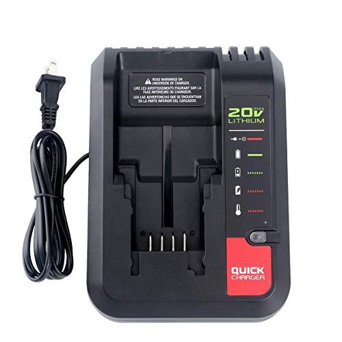(Lasica 20V Charger PCC692L PCC691L for Porter Cable 20V MAX Lithium Ion Battery PCC680L PCC681L PCC682L PCC685L PCC685LP PCC699L Black+Decker 20V MAX Lithium Battery LBXR20 LBXR2020 LB2X4020-OPE)