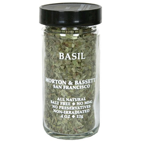 Morton & Bassett Basil, .4-Ounce Jars (Pack of 3)