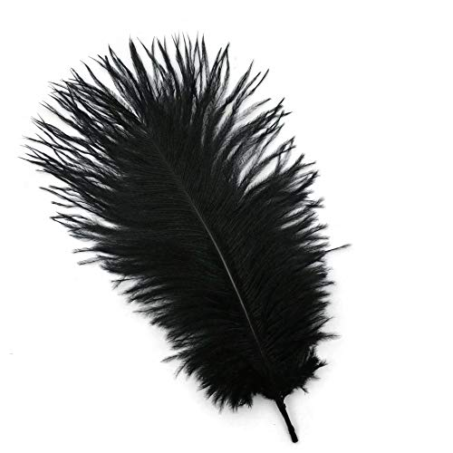 Shekyeon 8-10inch 20-25cm Ostrich Feather Plumes Wedding Centerpiece Table Decoration Pack of 20 -