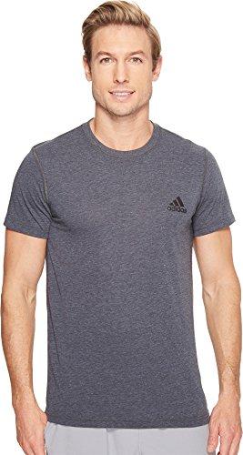 adidas Mens Training Ultimate Short Sleeve Tee, Dark Grey Heather, Large