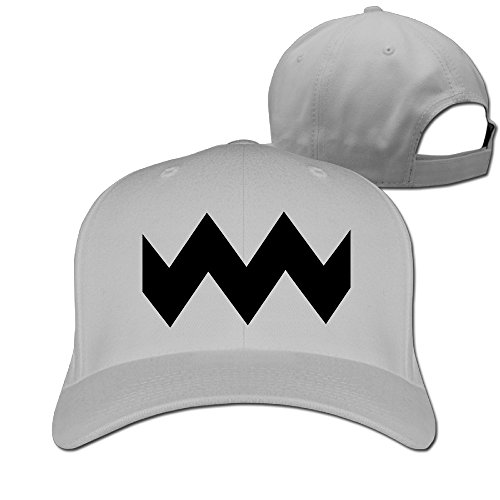 GXGML Charlie Brown Wavy Lines Unisex Fashion Adjustable Pure 100% Cotton Peaked Cap Sports Washed Baseball Hunting Cap Cricket Cap Ash (Charlie Womens Hat Adjustable)