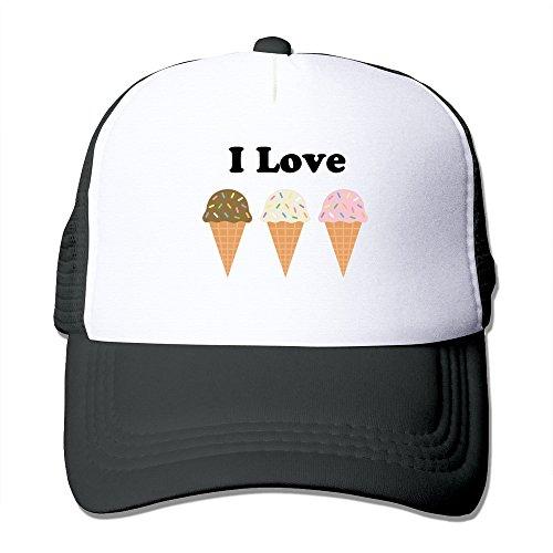 WZN I Love Ice Cream Cake 01 Hats With Black