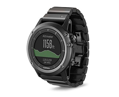 Garmin Fenix 3 Sapphire Multisport Training GPS/GLONASS Watch Bundle with HRM-RUN Heart Rate Monitor  (Metal Band) (Certified Refurbished)
