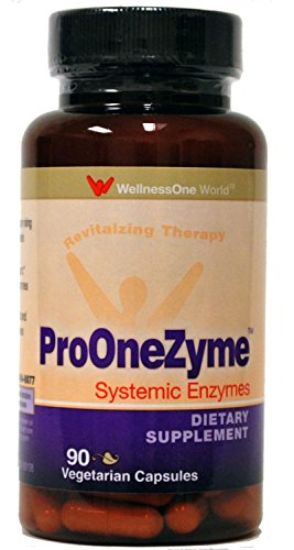 Pro-OneZyme Best Proteolytic Systemic Enzymes Supplement with Nattokinase Plus Probiotics - Promotes - 90 Capsules