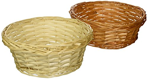 Set of 8 Assorted Willow Baskets (Light and Dark Mix of Natural Willow Color)