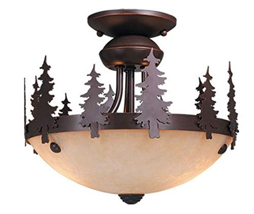 Vaxcel Lighting LK55512BBZ-C Yosemite - Two Ceiling Fan Light Kit, Burnished Bronze Finish with Amber Flake ()