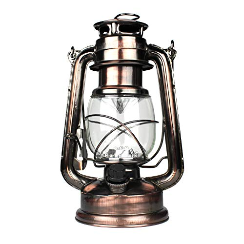 WeatherRITE LED Battery-Operated Old-Fashioned Rustic-Lantern Antique-Decor 5572 -