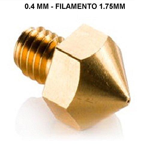 Nozzle précision 0,4mm pour Filament 1,75mm pour imprimantes 3d, CNC, Flashforge, makerBot, Reprap, Mendel, Prusa.. 3d printer extrudeuse