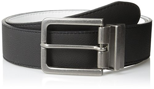 Bill Adler Men's Basic Reversible Belt, Black/White, (White Reversible Belt)