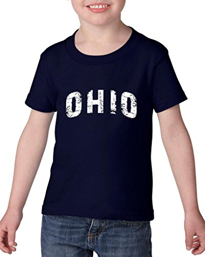 ARTIX Ohio Love Home My State USA Toddler Kids T-Shirt Tee Clothing 5T Navy Blue -
