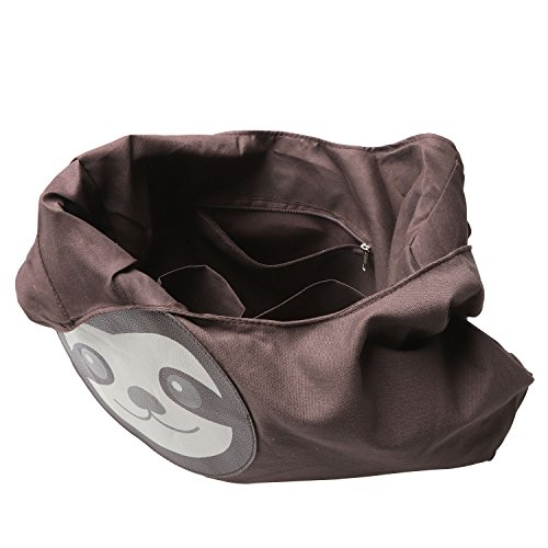 Sleepyville Critters Hang Loose Sloth Hobo Bag On Canvas by WonderMolly (Image #2)