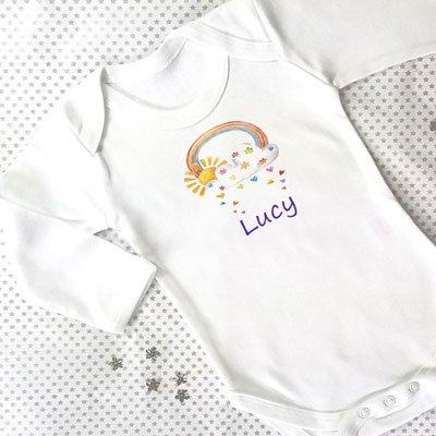 Personalised Baby Grow, Baby Boy Gift, Baby Girl Gift, Newborn Gift, Baby Clothes, Personalised Gift,Cute Baby Gift: Amazon.co.uk: Kitchen & Home