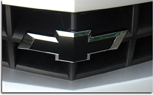 Reflective Concepts Front Bowtie Overlay Decal - 2010-2013 Camaro - (Color: Flat Black)