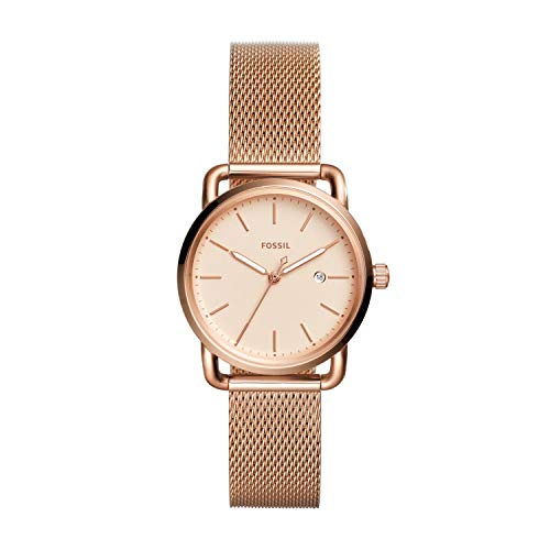 Fossil Women's The Commuter Quartz Stainless Steel Mesh Casual Watch...