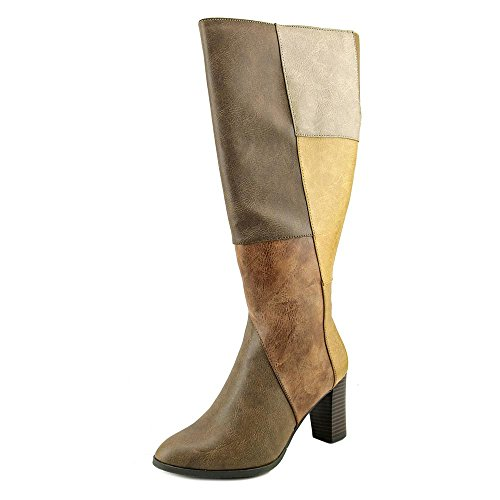 New York High Heels (New York Transit Must Haves Wide Calf Women US 8 Brown Mid Calf Boot)