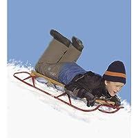 """Folleto flexible de gran trineo de acero. Control deslizante de nieve de metal y madera. Adulto 60 """""""