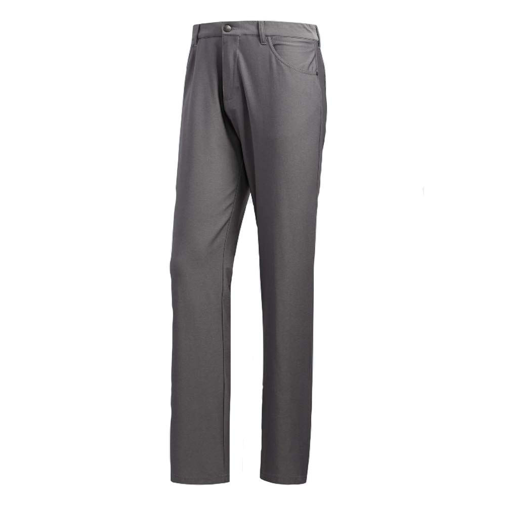 adidas Golf Ultimate Heather 5-Pocket Pant, Grey Three Heather, 3334 by adidas