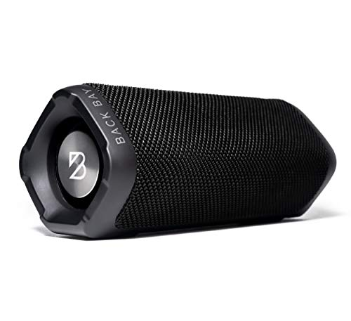 (Back Bay Wireless Bluetooth Shower Speaker with 24-Hour Battery Life. Loud Hi-Fi Sound with Enhanced Bass. IPX-4 Water-Resistant Light Portable Speaker for Indoor/Outdoor Stereo Sound)