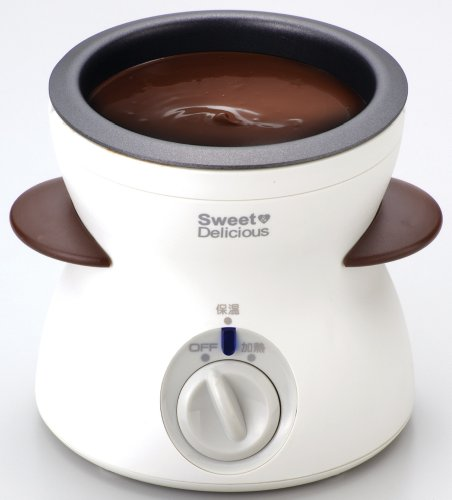 パール金属ハートフル2電気チョコレートフォンデュホワイトD-138