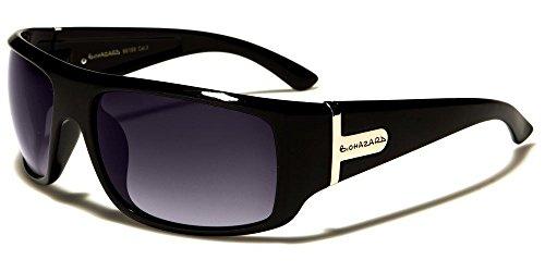 Black Biohazard Flat Top Thick Rectangle Men'S Designer - Independent Italian Sunglasses