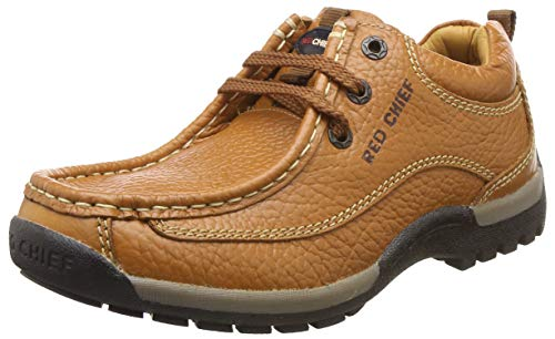 Redchief Men's Leather Trekking and Hiking Footwear Shoes