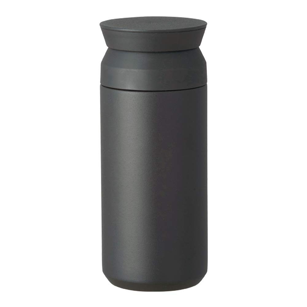 Kinto Travel Tumbler - Insulated Bottle (Black, Small) by Kinto