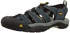 Comfort meets major versatility in this classic water shoe. It has the airiness of a sandal and the toe protection of a shoe. The razor-sipped sole provides excellent traction, and the washable webbing upper is ready for hiking, walking.Fit T...