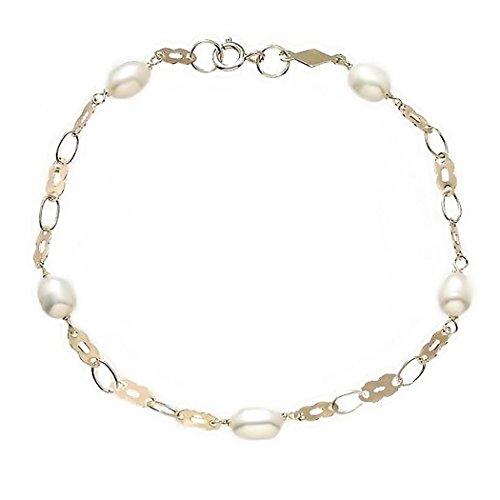 Bracelet 5 or 18k et perles de culture aljorfa Spacers [6322]