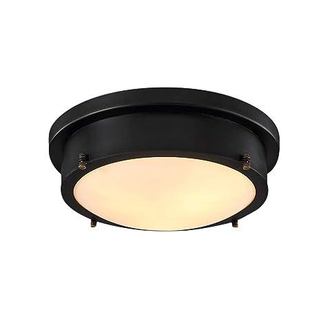 45cm Plafones LED Lámpara de techo Retro Industrial Negro ...