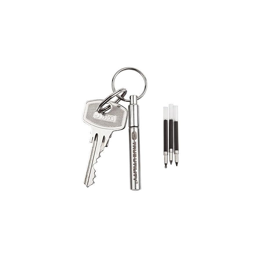 True Utility TelePen Telescoping Key Ring Pen (3 Refills)