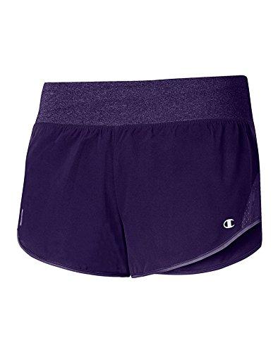 Champion M0912t Gear Womens Shorts With Brief - Mystic Purple/Mystic Purp Htr - M M0912T