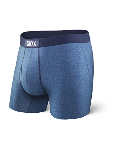 Saxx Underwear Men's Boxer Briefs- Ultra Men's Underwear- Boxer Briefs with Built-in Ballpark Pouch Support - Underwear for Men,Indigo,Large ()