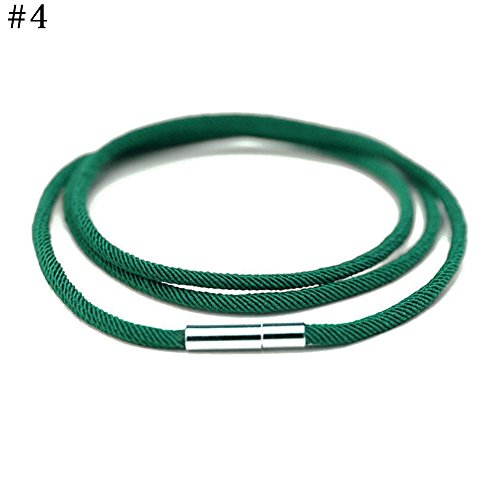 Green Handmade Bracelets - ZEROYOYO Classic Cotton Kabbalah Red Rope Bracelet China Red String Hand Catenary Ankle Chain Bring Peace and positive Energy (D)