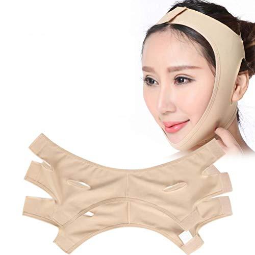 Facial Slimming Double Chin Cheek Band Strap Mask Ultra-Thin Strap Band V Face Line Belt Strap Band Breathable,Flesh,XXL