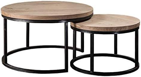 Ensemble De 2 Tables Basses Gigognes De Design Industriel Rustique