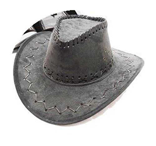 Avant Garde Costume For Men (primerry Unisex Avant-garde Cortex Cowboy cap hat (Light gray))
