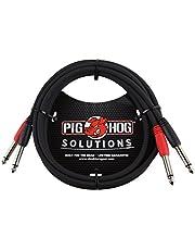 Pig Hog PD-21403 - Cable doble mono de 1/4 pulgadas (macho) a cable doble mono de 1/4 pulgadas (macho), 91.4 cm