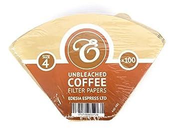 Tamaño 4(1x 4) 4K filtro de café conos de papel, sellado de fábrica-paquete de 100: Amazon.es: Hogar