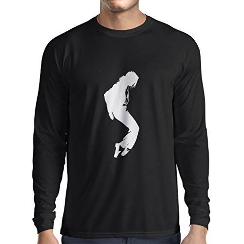 Long Sleeve t Shirt Men I Love MJ - Fan Club Clothes, Concert Clothing (Medium Black - Broadway Nyc Stores On