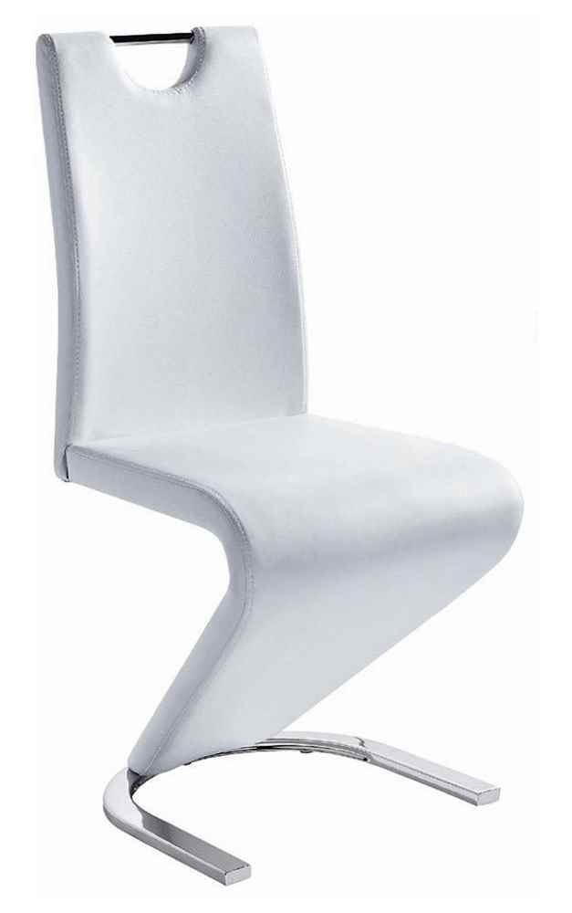 New Spec Inc Upholstered Side Chair in White - Set of 2