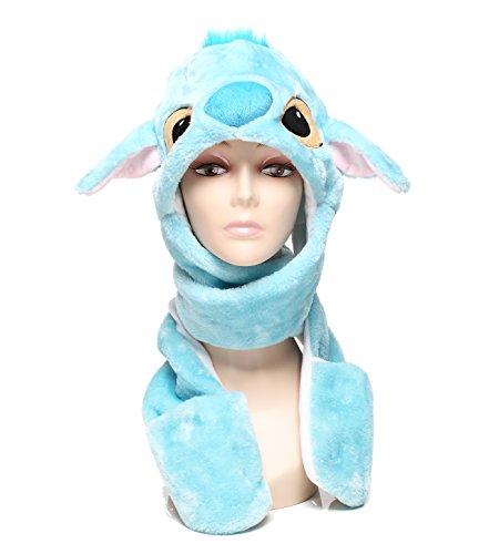 Stitch Costume Hat (Winter Hat Animal for Children in Cute Cartoon Style Soft & Warm (Blue Stitch))