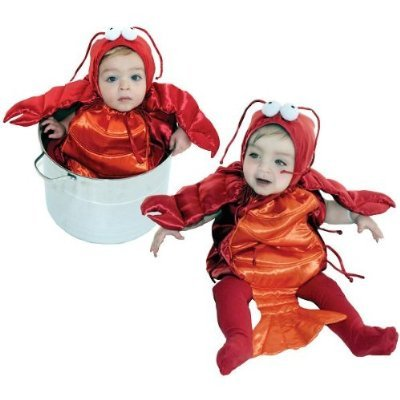 AM PM Kids! Baby's Lobster Costume, Red/Orange, One Size(6-18 (Baby Girl Lobster Costume)