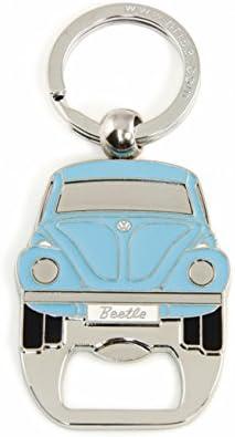 BRISA VW Collection - Volkswagen Käfer Schlüssel-Anhänger-Flaschenöffner, Geschenk-Idee/Fan-Souvenir/Retro-Vintage-Artikel (Blau)