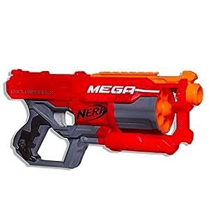 NERF MEGA - CycloneShock Blaster inc 6 official MEGA Darts - Kids Toys & Outdoor games - Ages 8+