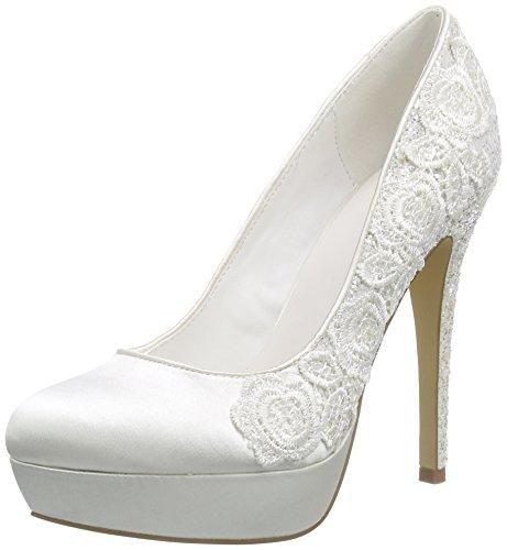 Femme Menbur du Ivory Avant Chaussures à Wedding Pieds Elfenbein Couvert Martina Talons Blanc ggwz1q
