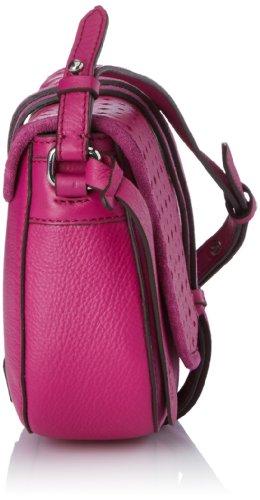 Púrpura Clarks Mujer Cruzados Size One Para Bolso All Fits Cuero De Morado qxvpwOq