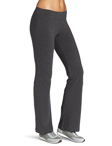 Lataly Women's Boot-Leg Yoga Pants Color Grey Size M