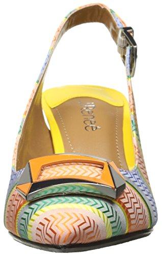 Green J Slingback Pointed Renee Toe Orange Women's Blue Lloret qr18UWFq