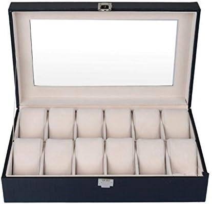 MVPOWER Caja para Relojes Estuche para Guardar Relojes Expositor de Relojes Caja de Almacenamiento de Relojes Organizador para Relojes (Beige, 6 x 2): Amazon.es: Hogar